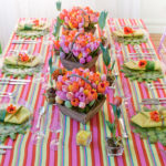 This Bright and colroful Easter Tablescape Is so lovely!