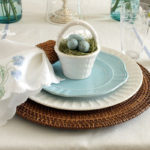 Tiny Easter basket place settings, so cute!