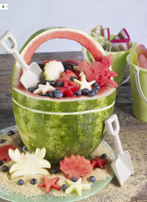 Awesome watermelon sand bucket for a pool party