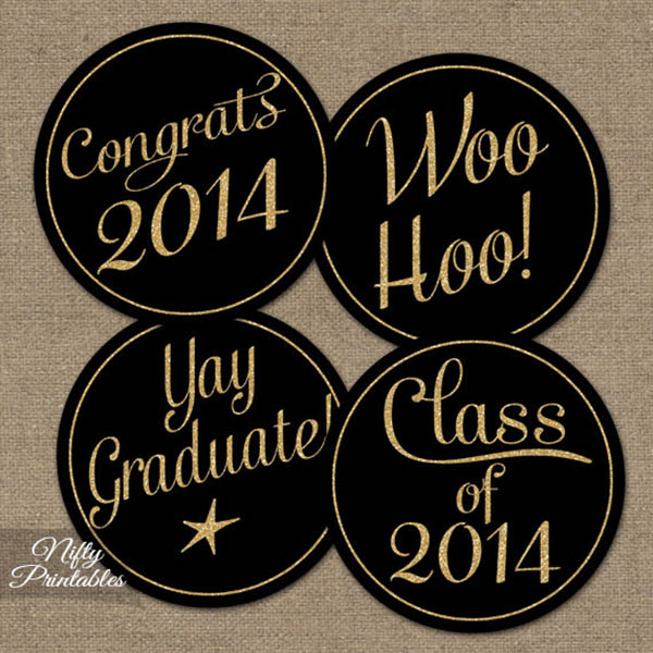 ... cupcake toppers, coasters and more! Get the printables from Nifty