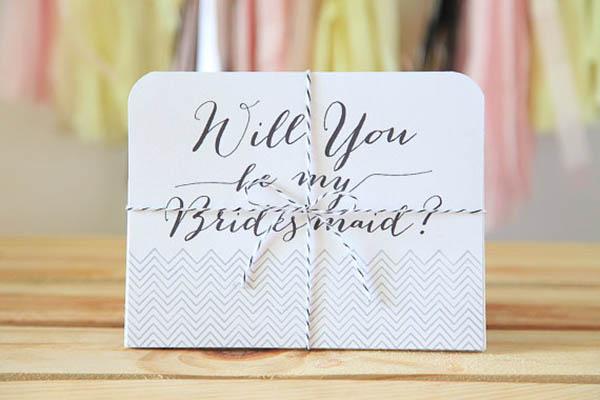 Cute Chevron Will you be my bridesmaid card