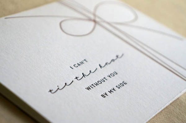 Cute Letterpressed Will You Be My Bridesmaid