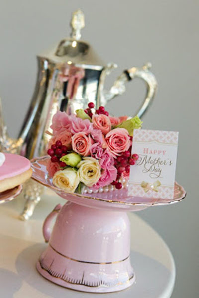 Cute Mother's day tea party decorations
