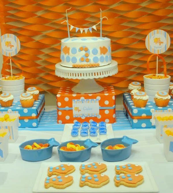 Cute and bubbly Goldfish Party!