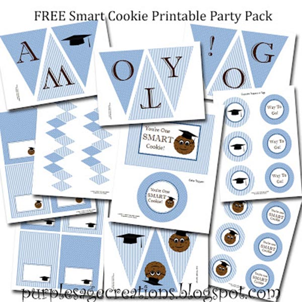 Free Smart Cookie Graduation Party Printables