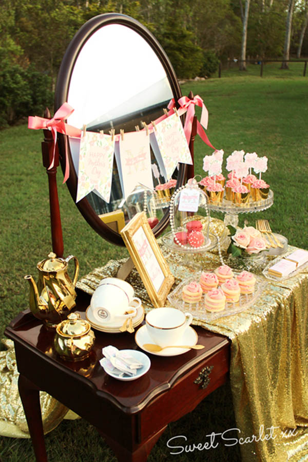 Gold and glam mother's day tea!