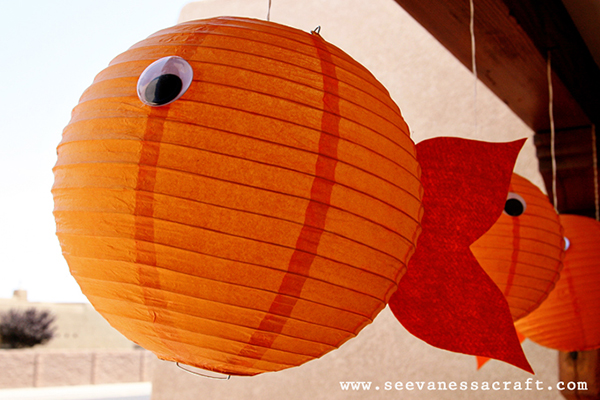 Goldfish party decoration lanterns