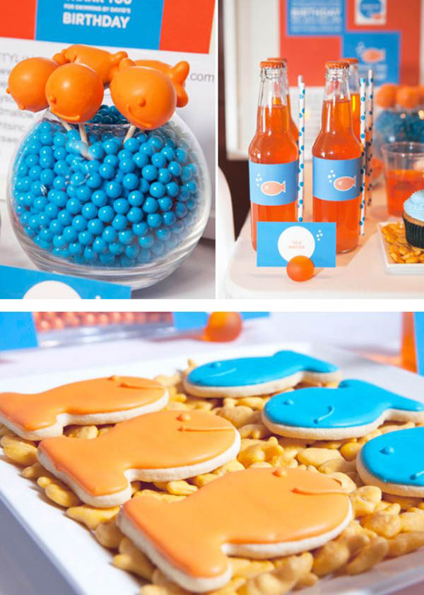 Goldfish party dessert ideas