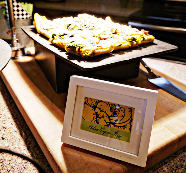 Gourmet Pizza Bar at Love in bloom engagement party