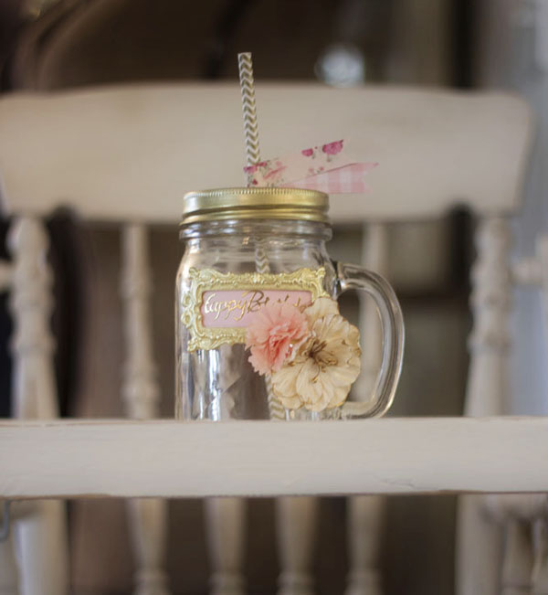 Happy Birthday Mason Jar Drink