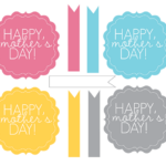 Happy Mother's Day tags and flags free printable