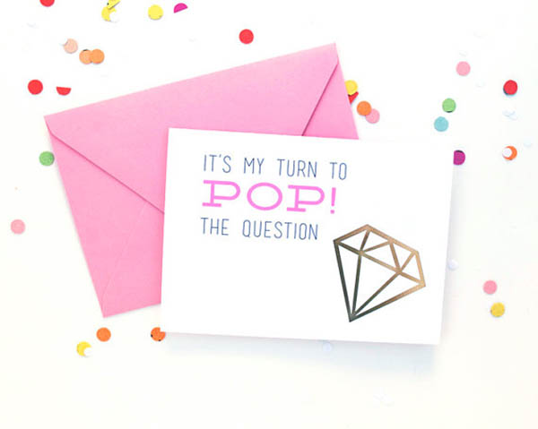 It's my turn to pop the question will you be my bridesmaid cards