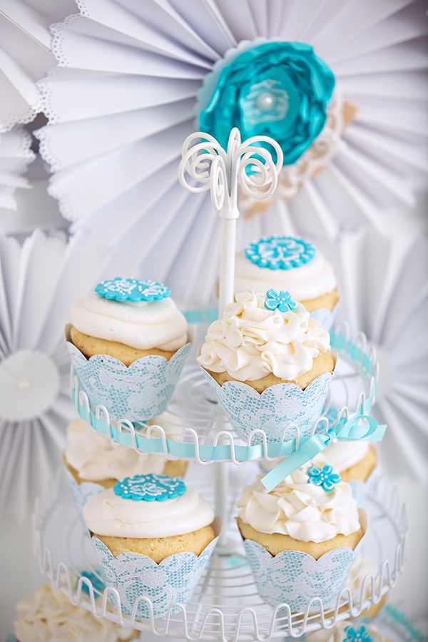 Lace And Pearls Bridal Shower Cupcakes