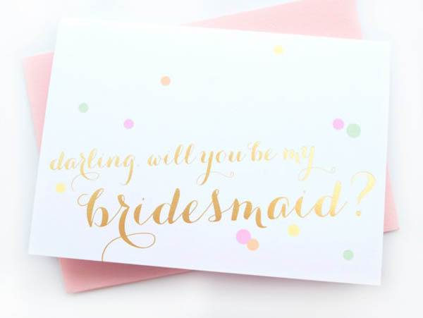 will you be my bridesmaid cards b lovely events. Black Bedroom Furniture Sets. Home Design Ideas