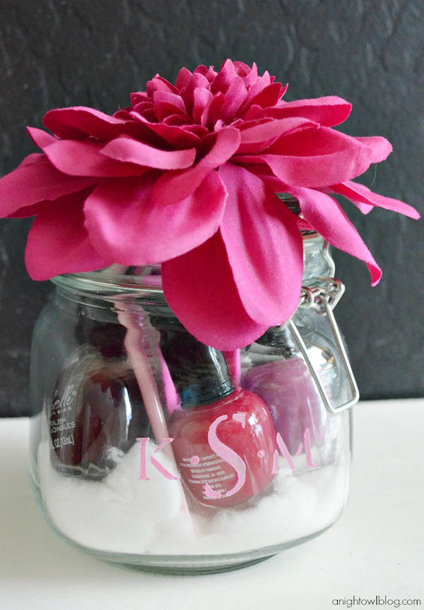 Monogram Manicure Jar for Mother's Day