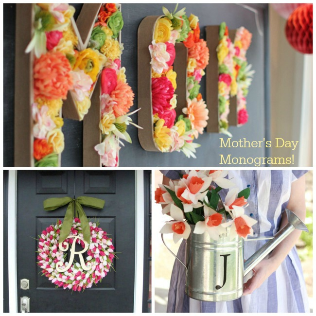 Mother's Day Monogram ideas- B. Lovely events