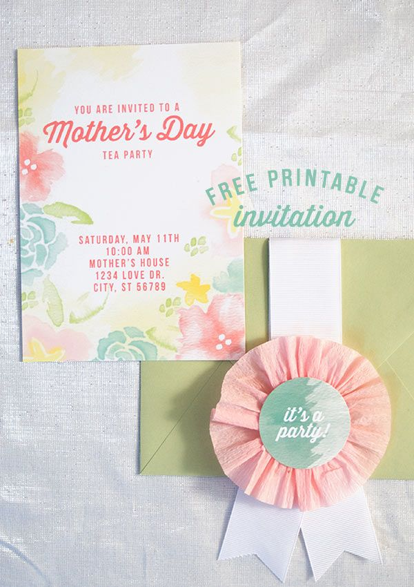 Mother's Day Tea party free invite!