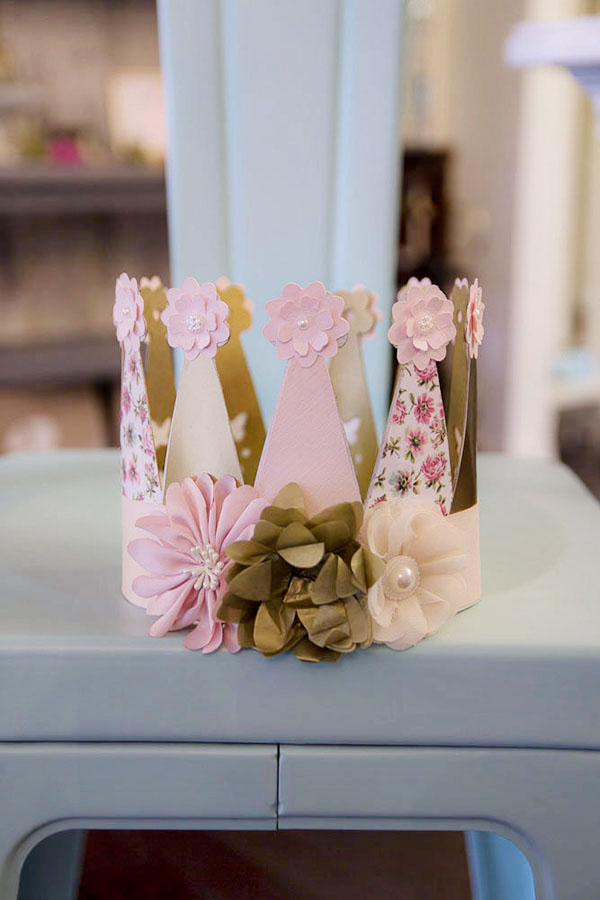 Shabby Chic Birthday Crown