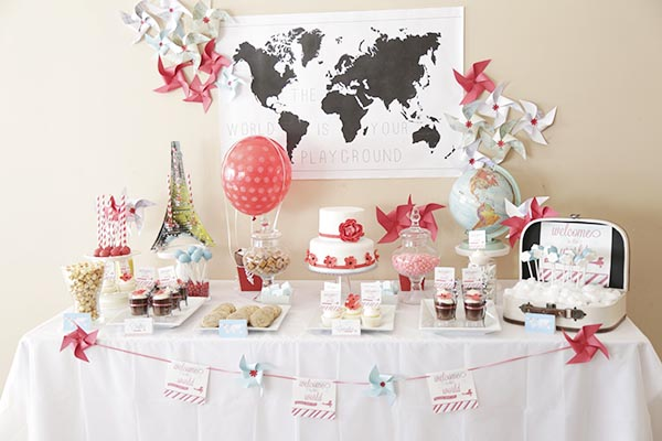 Welcome To the World Travel Baby Shower