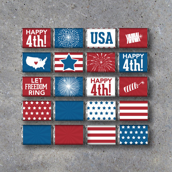 4th of July chocolate wrappers-Get them for free!