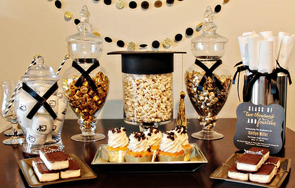 Adorable Black And Gold Grad Party With Some Darling DIY Details! - B. Lovely Events