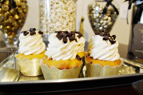 Black And Gold Glitter Cupcakes- B. Lovely Events