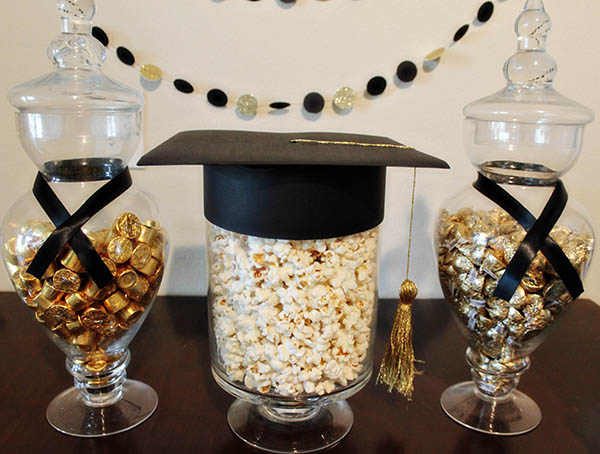 Black And Gold Graduation Candy Bar- B. Lovely Events