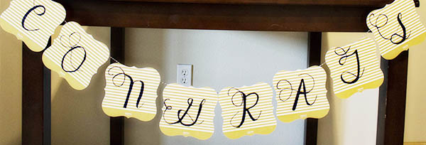 DIY Congrats Graduation Party Banner