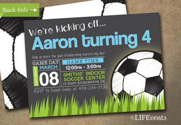Etsy Find- Soccer Ball Invitations