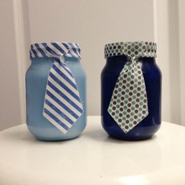 Father's Day Tie Mason Jars