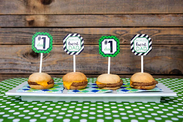 Father's day Sliders- B. Lovely Events