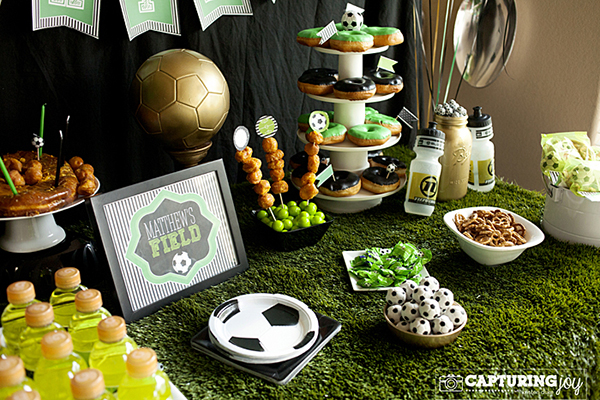 This soccer party has tons of ideas