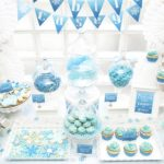 Amazing frozen party dessert table