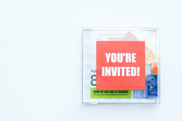 Awesome Lego Party invite