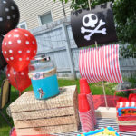 Awesome pirate party drink station
