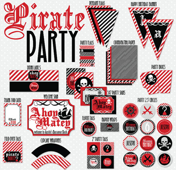 Awesome pirate party printables!