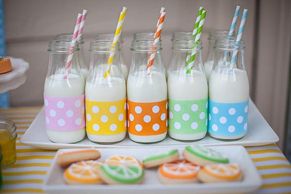Colorful milk ideas
