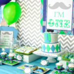 Cute Little man 1 year old birthday party