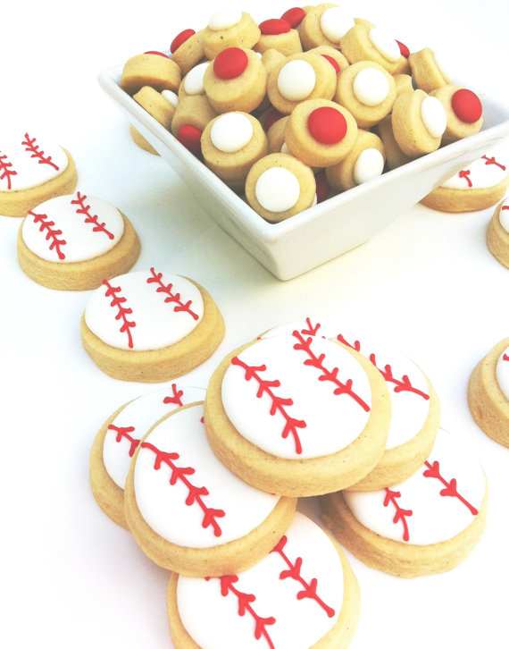 Cute baseball cookies on Etsy!