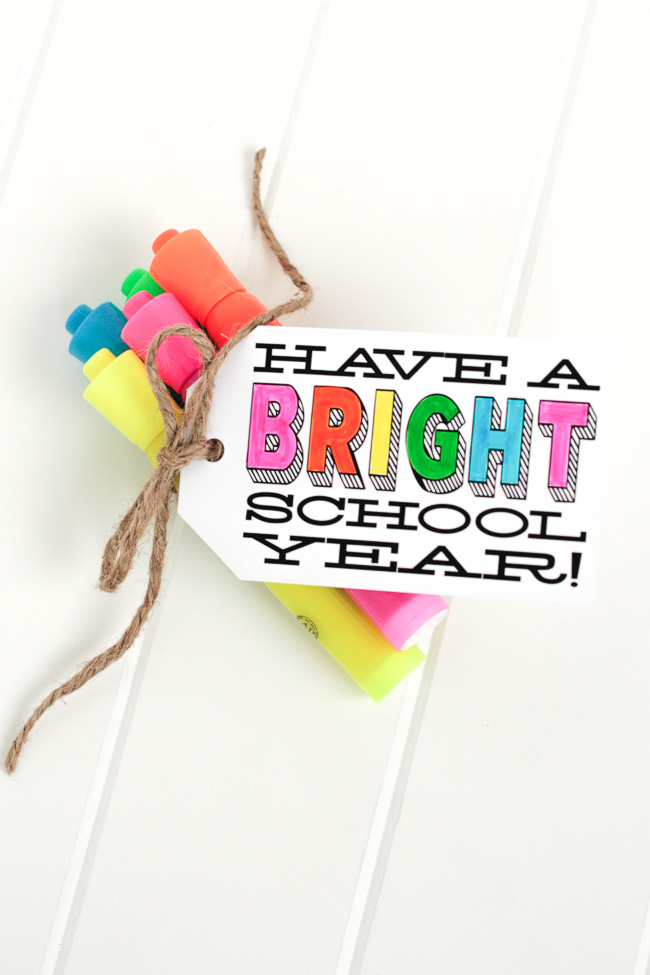 Cute sayings and gifts for a back to school party!