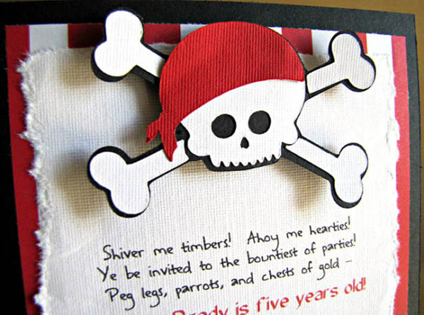 Darling 3d Pirate party invitation