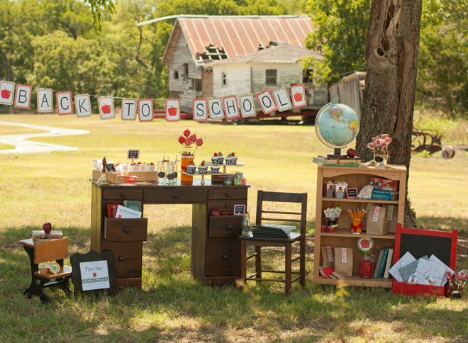 Our favorite back to school party ideas b lovely events for Back to school party decoration ideas