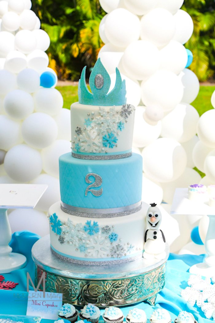 Frozen Party Birthday Cake- so cool!