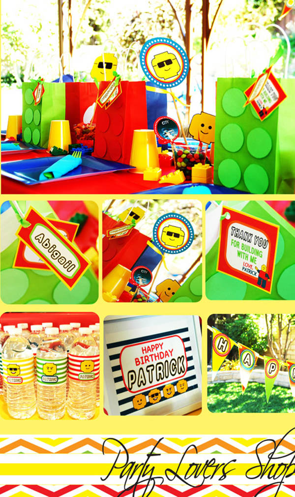 Lego party Printables on Etsy!