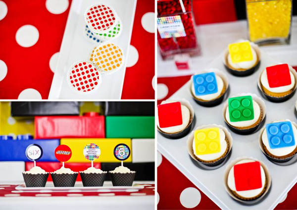 Lego party  food ideas from Anders Ruff!