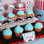 Little Man Mustache Bash Birthday Party! Find our cute DIY Printable Party Decoration at