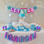 Love this Colorful Frozen Birthday Party