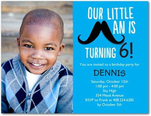 Love this Mustache party invite!