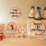 Lovely baseball party set on Etsy