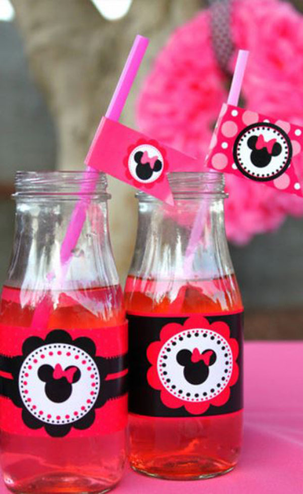 Minnie Mouse Party Drinks- So cute!
